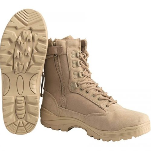 Chaussures Tactical Cordura Tan zip